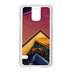 The Rainbow Bridge of a Thousand Fractal Colors Samsung Galaxy S5 Case (White)