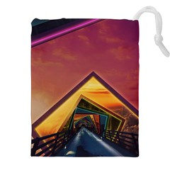 The Rainbow Bridge of a Thousand Fractal Colors Drawstring Pouches (XXL)