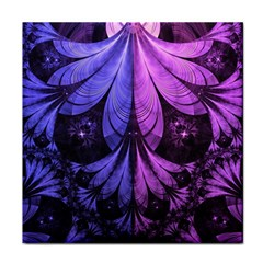 Beautiful Lilac Fractal Feathers of the Starling Tile Coasters