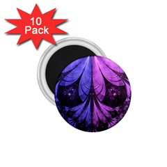 Beautiful Lilac Fractal Feathers of the Starling 1.75  Magnets (10 pack)
