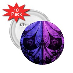 Beautiful Lilac Fractal Feathers of the Starling 2.25  Buttons (10 pack)