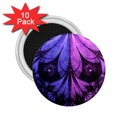 Beautiful Lilac Fractal Feathers of the Starling 2.25  Magnets (10 pack)