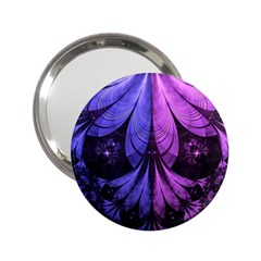 Beautiful Lilac Fractal Feathers of the Starling 2.25  Handbag Mirrors