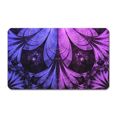 Beautiful Lilac Fractal Feathers of the Starling Magnet (Rectangular)