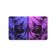 Beautiful Lilac Fractal Feathers of the Starling Magnet (Name Card)