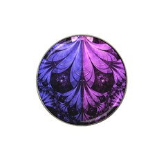 Beautiful Lilac Fractal Feathers of the Starling Hat Clip Ball Marker (10 pack)