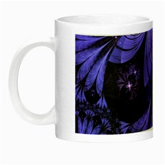 Beautiful Lilac Fractal Feathers of the Starling Night Luminous Mugs