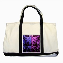 Beautiful Lilac Fractal Feathers of the Starling Two Tone Tote Bag