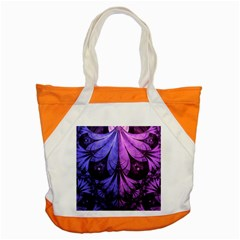 Beautiful Lilac Fractal Feathers of the Starling Accent Tote Bag