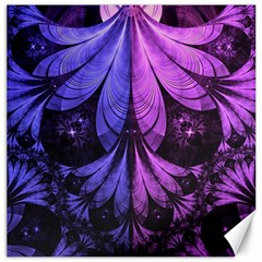 Beautiful Lilac Fractal Feathers of the Starling Canvas 12  x 12