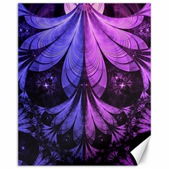 Beautiful Lilac Fractal Feathers of the Starling Canvas 16  x 20