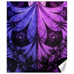 Beautiful Lilac Fractal Feathers of the Starling Canvas 20  x 24