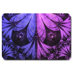 Beautiful Lilac Fractal Feathers of the Starling Large Doormat