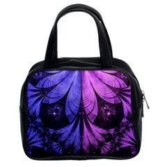 Beautiful Lilac Fractal Feathers of the Starling Classic Handbags (2 Sides)