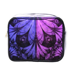 Beautiful Lilac Fractal Feathers of the Starling Mini Toiletries Bags