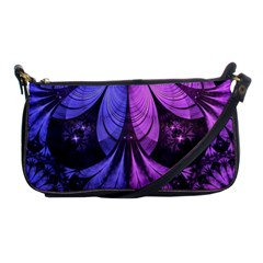 Beautiful Lilac Fractal Feathers of the Starling Shoulder Clutch Bags