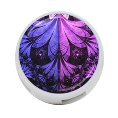 Beautiful Lilac Fractal Feathers of the Starling 4-Port USB Hub (Two Sides)