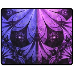 Beautiful Lilac Fractal Feathers of the Starling Fleece Blanket (Medium)