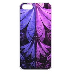 Beautiful Lilac Fractal Feathers of the Starling Apple iPhone 5 Seamless Case (White)