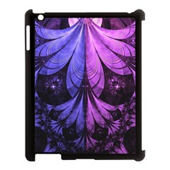 Beautiful Lilac Fractal Feathers of the Starling Apple iPad 3/4 Case (Black)
