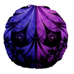 Beautiful Lilac Fractal Feathers Of The Starling Large 18  Premium Round Cushions
