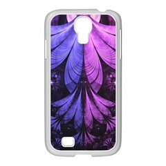 Beautiful Lilac Fractal Feathers of the Starling Samsung GALAXY S4 I9500/ I9505 Case (White)