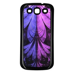 Beautiful Lilac Fractal Feathers of the Starling Samsung Galaxy S3 Back Case (Black)
