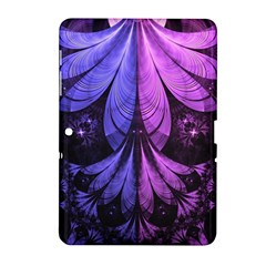 Beautiful Lilac Fractal Feathers of the Starling Samsung Galaxy Tab 2 (10.1 ) P5100 Hardshell Case
