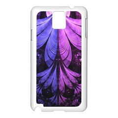 Beautiful Lilac Fractal Feathers of the Starling Samsung Galaxy Note 3 N9005 Case (White)