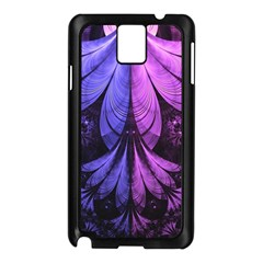 Beautiful Lilac Fractal Feathers of the Starling Samsung Galaxy Note 3 N9005 Case (Black)
