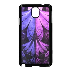 Beautiful Lilac Fractal Feathers Of The Starling Samsung Galaxy Note 3 Neo Hardshell Case (black)