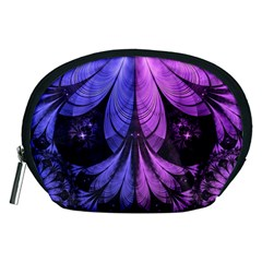 Beautiful Lilac Fractal Feathers of the Starling Accessory Pouches (Medium)