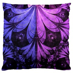 Beautiful Lilac Fractal Feathers of the Starling Standard Flano Cushion Case (Two Sides)