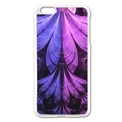 Beautiful Lilac Fractal Feathers of the Starling Apple iPhone 6 Plus/6S Plus Enamel White Case