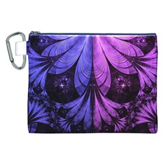 Beautiful Lilac Fractal Feathers of the Starling Canvas Cosmetic Bag (XXL)