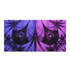 Beautiful Lilac Fractal Feathers of the Starling Satin Wrap