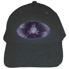 Amazing Fractal Triskelion Purple Passion Flower Black Cap