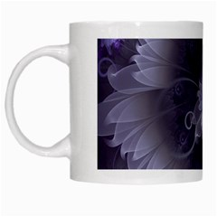 Amazing Fractal Triskelion Purple Passion Flower White Mugs