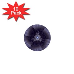 Amazing Fractal Triskelion Purple Passion Flower 1  Mini Buttons (10 pack)