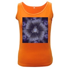 Amazing Fractal Triskelion Purple Passion Flower Women s Dark Tank Top