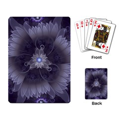 Amazing Fractal Triskelion Purple Passion Flower Playing Card