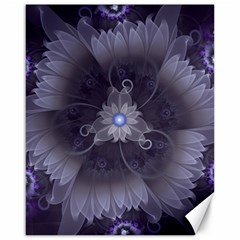 Amazing Fractal Triskelion Purple Passion Flower Canvas 16  x 20