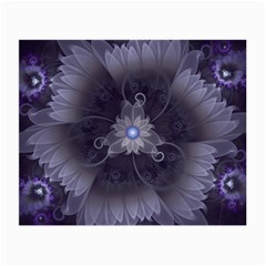 Amazing Fractal Triskelion Purple Passion Flower Small Glasses Cloth (2-Side)