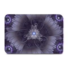 Amazing Fractal Triskelion Purple Passion Flower Plate Mats