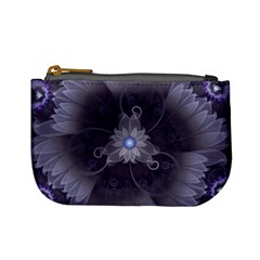 Amazing Fractal Triskelion Purple Passion Flower Mini Coin Purses