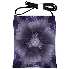 Amazing Fractal Triskelion Purple Passion Flower Shoulder Sling Bags