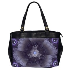 Amazing Fractal Triskelion Purple Passion Flower Office Handbags (2 Sides)