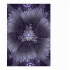 Amazing Fractal Triskelion Purple Passion Flower Small Garden Flag (two Sides)