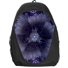 Amazing Fractal Triskelion Purple Passion Flower Backpack Bag