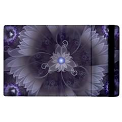 Amazing Fractal Triskelion Purple Passion Flower Apple iPad 3/4 Flip Case